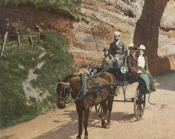 Northern Ireland Postacrd Red Arch CUSHENDALL County Antrim Irish Vintage Antique Post Card 1905 cancel Lawrence