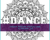 Mandala #Dance Coloring Page - Instant Download