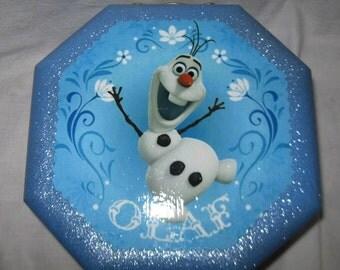 Disney's Frozen Olaf Upcycled Jewelry & Trinket Box