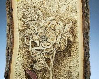 Wooden Art Burning on Bass Wood, Pointillism, A2652