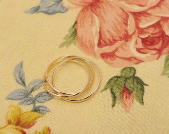 Rose Gold Filled Thin Triple Ring