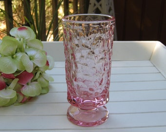 Fostoria Pink Goblet Tumbler Stemware - Pebble Beach Pattern - Oak Hill Vintage