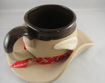 Cowboy Hat Stoneware Mug Muddy Waters 1989