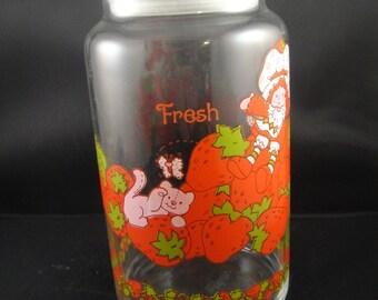 Strawberry Shortcake Glass Jar or Canister Fresh