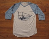 vintage lineman baseball tee