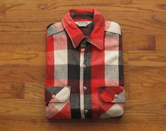 mens vintage Five Brother flannel shirt