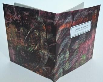 MY MUSIC Manuscript BOOK - Brilliant Swirls of Red