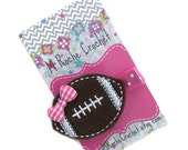 Football hair clip, football felt clip, football hair bow, baby hair clip, toddler hair clip, hair accessory, baby accessory, baby barrettes