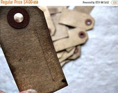 Lot of 25 SMALL bLaNk Hang Tags -Grungy - Favors Bags Gift Tag Wedding Escort Place Marker