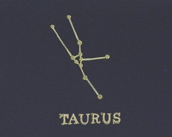 Taurus Birthday Card, Astrology, Horoscope, Constellation, Taurus Card, Star Sign, Birthday, Taurus, Birthday Card