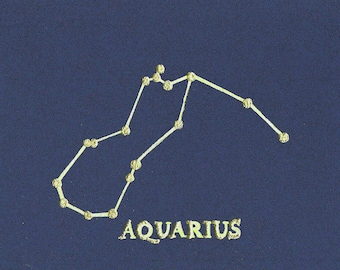 Aquarius Birthday Card, Astrology, Horoscope, Constellation, Aquarius Card, Star Sign, Birthday, Aquarius, Birthday Card