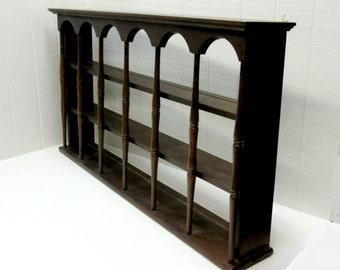 Vintage Wooden Shelf Wall Shelf Curio Shelf Large Shelf