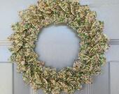 Mardi Gras Blend French Beaded Decorative Wreath (X-Small)