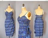 30%OFF 1950s Hawaiian Dress / The Kahala Dress / 50s