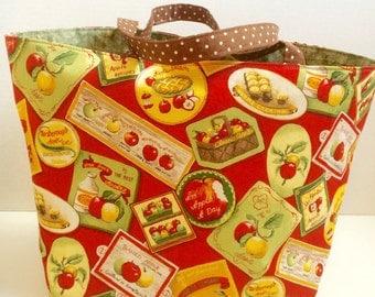 Apple  Themed Tote Bag, Shopping Bag