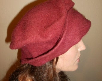 Vintage 1980's Collapsible Travel Wool Hat by Laurel Fenenga San Francisco One Size