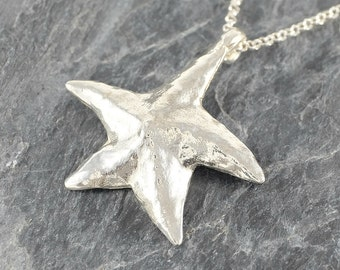 Starfish Necklace, Sterling Silver Necklace, Star Necklace, Sea Star Pendant, Star Fish Necklace Starfish Jewelry, Starfish Pendant