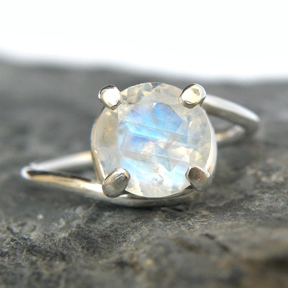 moonstone wedding rings rainbow moonstone engagement ring in sterling silver rainbow 6014