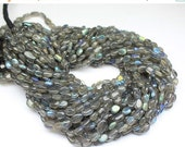 VALENTINE SALE 55% Natural Labradorite Smooth Polished Oval Beads Strand, 14 inches, 5-7mm, SKU1997/S