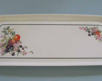 Melamine Serving Tray / Vintage Long Tray
