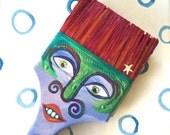 Paintbrush People Magnet Purple