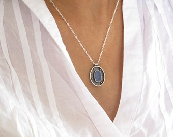 Light Blue Sea glass pendant, Genuine Sea glass, Genuine Sea glass jewelry, Beach Glass Pendant, Sterling silver 925 handmade jewelry