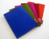 iPad Mini case. pure wool felt. computer accessory. royal blue. green. magenta. orange. red. tablet case. tablet sleeve. made by mlmxoxo
