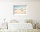 Large Art Print, Beach Photography, Venice Beach California, Lifeguard Tower, Extra Large Wall Art, Beach Decor, Large Beach Photography
