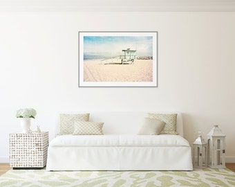 Large Art Print, Beach Photography, Venice Beach California, Lifeguard Tower, Extra Large Wall Art, Beach Decor, Large Beach Photography