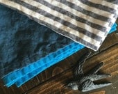 the simone washed linen beach towel