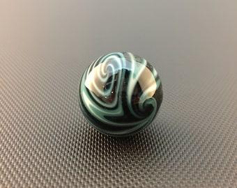 Glass Marble // Color Reversal // Black, Blue & White