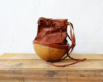 Coconut Purse • Leather Crossbody Bag • Boho Crossbody Bag • Festival Bag • Crossbody Leather Purse • Beach Purse • Crossbody Purse | B508
