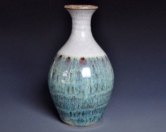 Jade Pottery Bud Vase Small Ceramic Flower Vase Handmade A