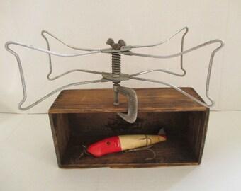 Vintage Fishing Line Dryer - Metal Line Dryer - Fishing Line - Table Clamp Line Dryer - Collapsible