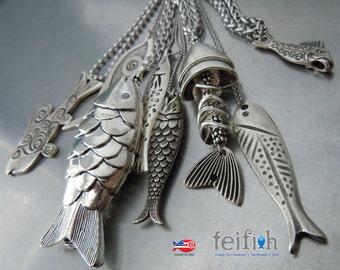 We Love Fish Necklaces