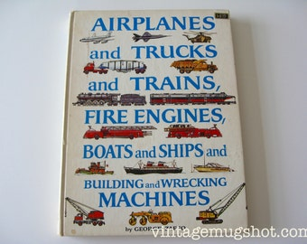 """George Zaffo  Airplanes Trucks Trains Fire Engines Boats Ships.... Hardcover 8 1/2"""" x 11"""" 1968 Edition"""