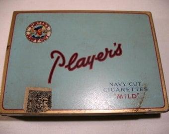 Vintage Player's Navy Cut Cigarette Tin