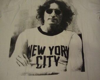 Vintage 90's JOHN LENNON The Beatles Rock Band New York City  T Shirt XL
