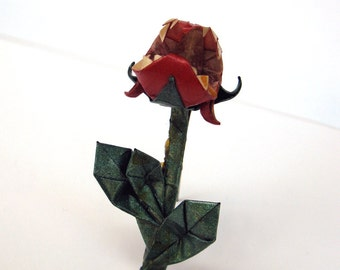 origami audrey brooch