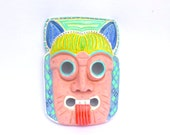 Up Cycled PASTEL NEON MASK