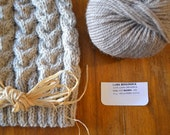 Slouchy Hat with organic wool, BIO lana for knit hat for winter for gift