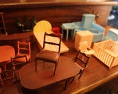 Large Lot Collection MARX Dollhouse Furniture Dining Room Sets Living Bathroom Baby Nursery 1940-50s Vintage LOW PRICE!