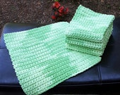 Crochet Wash Cloths, Crochet Dish Cloths, 100% Cotton, Handmade Washrag, Set of 4, Kitchen Dishcloths, Face Cloth, Potholder