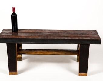 """NAPA - """"BanDeng"""" -  Wine Barrel Bench -- 100% recycled"""