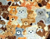 Teddy Bear Fabric Cotton Material from Cotton Classics