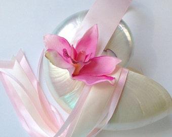Pearl Nautilus Shell Flower Girl Basket