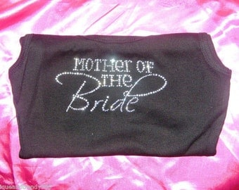 Mother of the Bride shirt . Mother of the Bride rhinestone tank top . Half lace mob shirt . Mother of the bride t-shirt . Wedding Shirts.