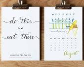 2016 Wall Art Calendar - Do This // Eat There - Twin Cities Guide For Fun - Minneapolis & St Paul - 5x7