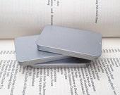 40ml sliding lid tins, rectangular tins, silver color, business card holder, id card holder, credit card holder (a set of 50 tin boxes)
