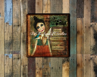 Proverbs 31:28 Hand-stretched Gallery Wrapped Canvas.